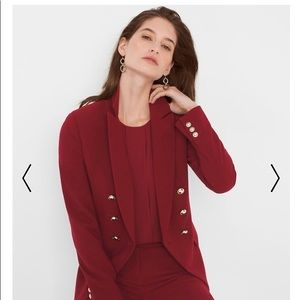 WHBM wine colored trophy jacket